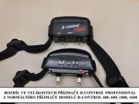 Elektronický výcvikový obojek d-control professional 1000 rozdíl D-control 600 - velikosti příjmačů