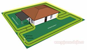 Instalace D-fence - rozdělení pozemku na 2 části