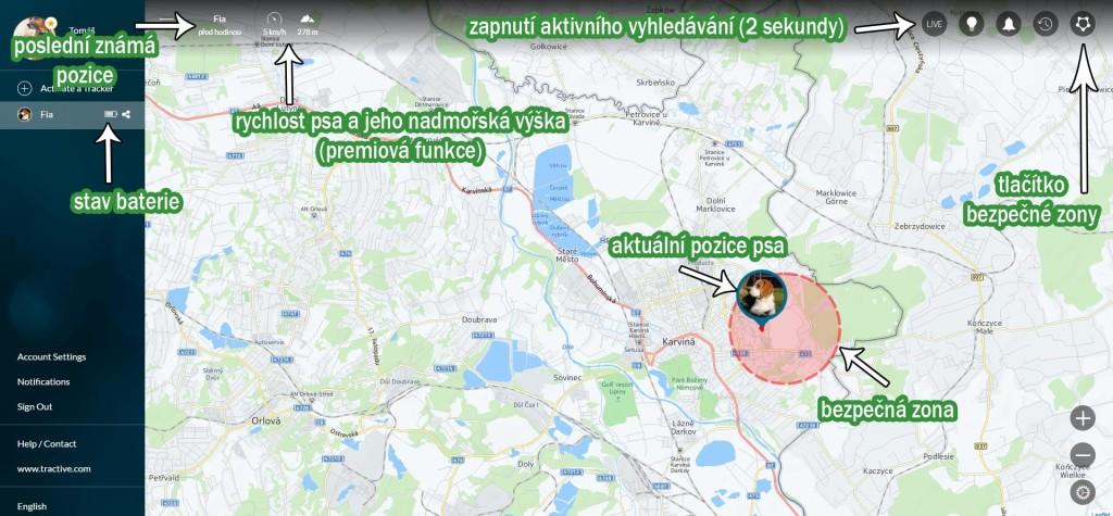 Ukázka webového rozhraní na ovládání GPS