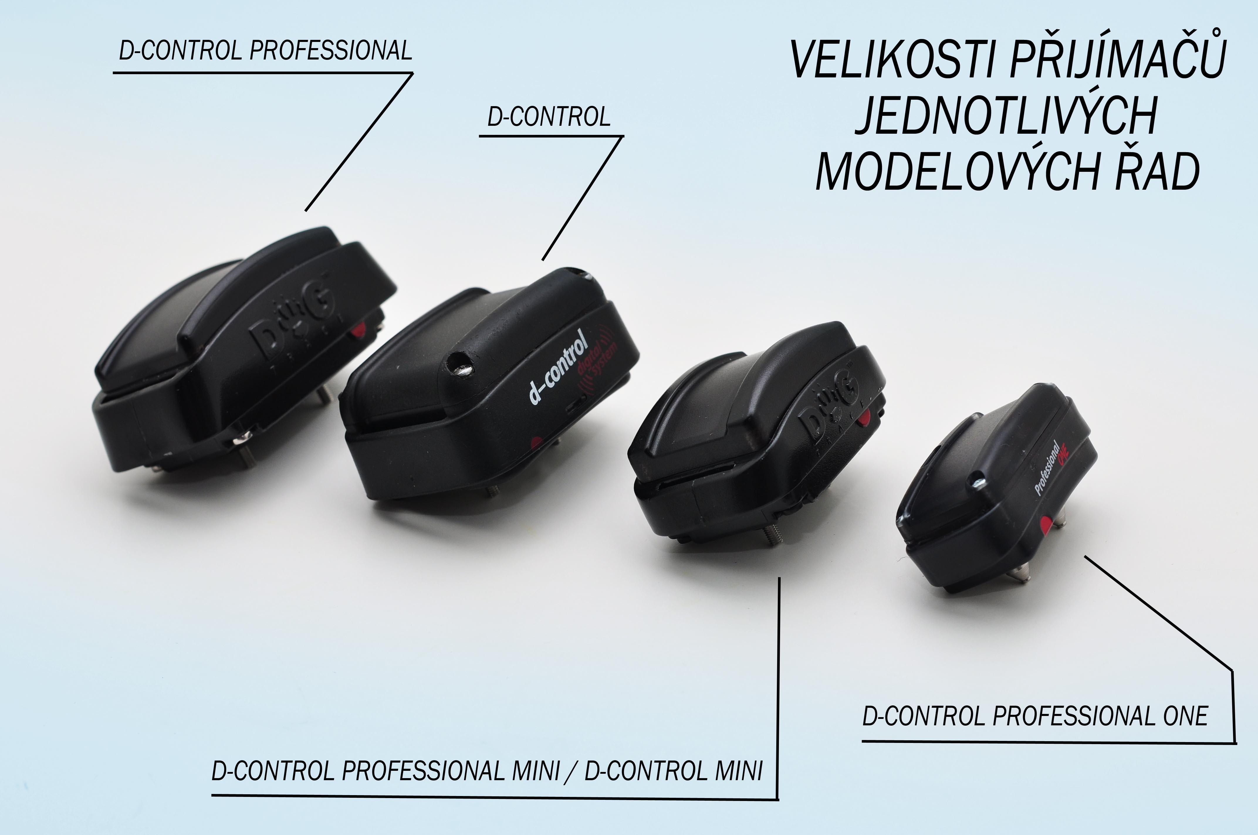 Rozdíl mezi modely D-control professional a D-control professional mini