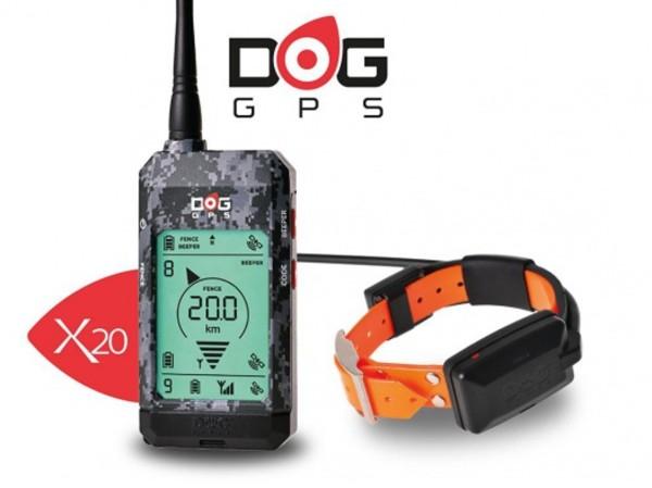DOG GPS X20 VYHLEDÁVÁNÍ PSŮ AŽ NA VZDÁLENOST 20KM