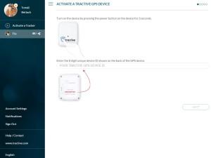Ukázka webového rozhraní na ovládání GPS - aktivace nové GPS