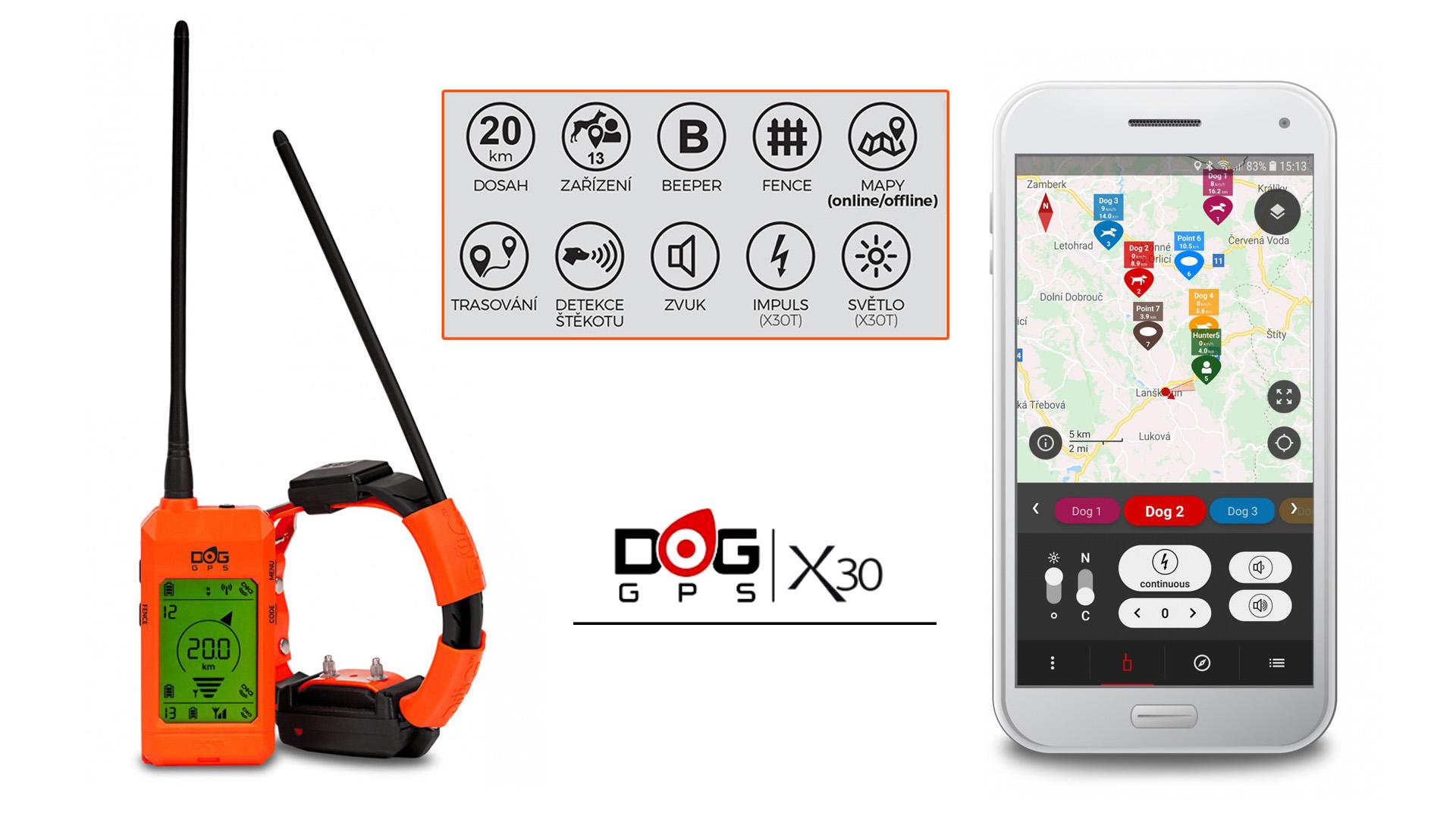 VIDEOPŘEDSTAVENÍ APLIKACE DOGTRACE GPS K OBOJKU DOG GPS X30 A X30T